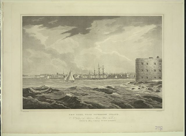New York, from Governors Island / painted by W.G. Wall ; engraved by I. Hill.
