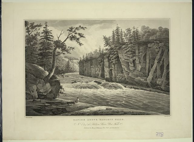 Rapids above Hadleys Falls / painted by W.G. Wall ; engraved by I. Hill.