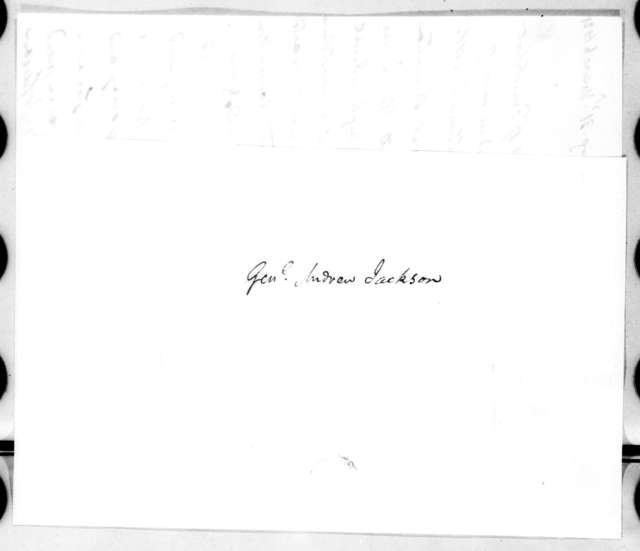 Richard Mentor Johnson to Andrew Jackson, March 31, 1821