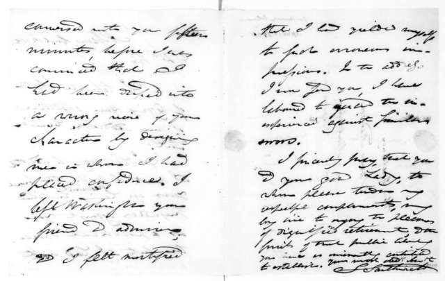 Solomon Southwick to James Madison, April 12, 1821.