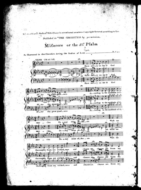 The  chorister, a collection of chants and melodies, op. 12