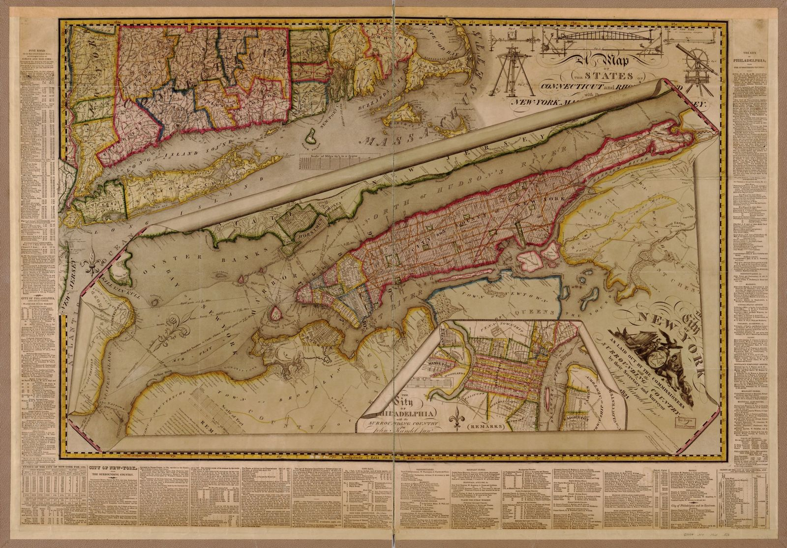 The City of New York as laid out by the Commissioners with the surrounding country /