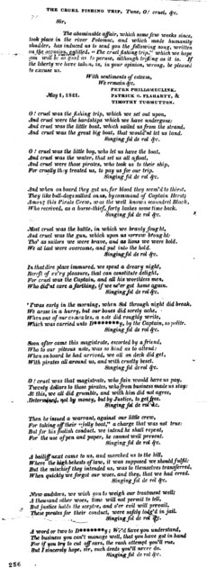 The cruel fishing trip. Tune: O! cruel, &c. May 1, 1821