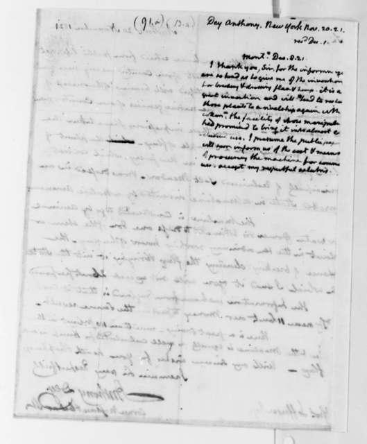 Thomas Jefferson to Anthony Dey, December 8, 1821