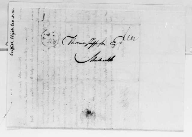 Thomas Jefferson to Elijah Griffiths, January 5, 1821