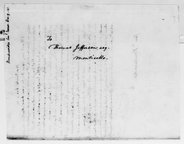 Thomas Jefferson to James Breckinridge, December 9, 1821