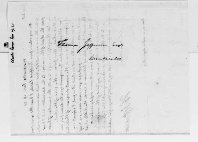 Thomas Jefferson to James Clarke, January 19, 1821