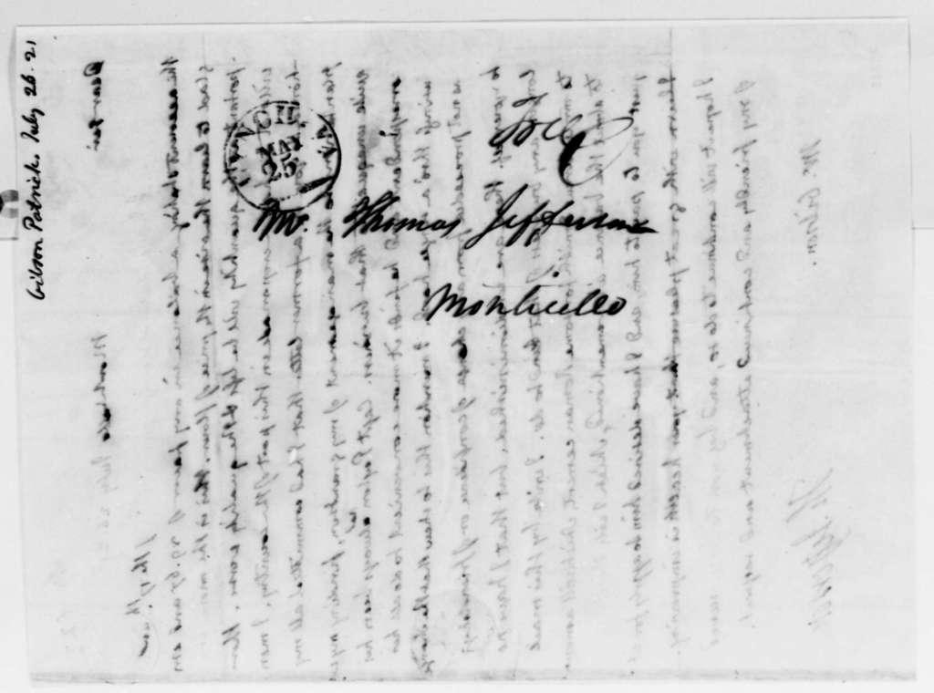 Thomas Jefferson to Patrick Gibson, July 26, 1821