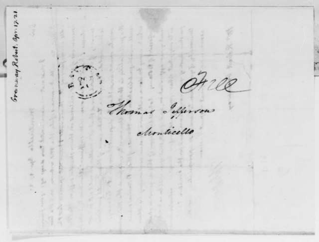 Thomas Jefferson to Robert Greenway, April 17, 1821