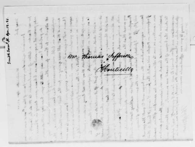 Thomas Jefferson to Samuel H. Smith, April 12, 1821