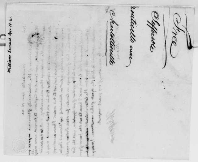 Thomas Jefferson to Samuel Williams, April 16, 1821