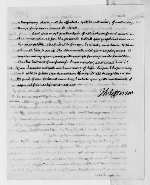 Thomas Jefferson to Spencer Roane, March 9, 1821