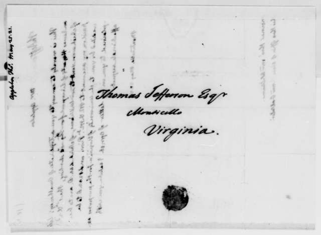 Thomas Jefferson to Thomas Appleton, May 25, 1821