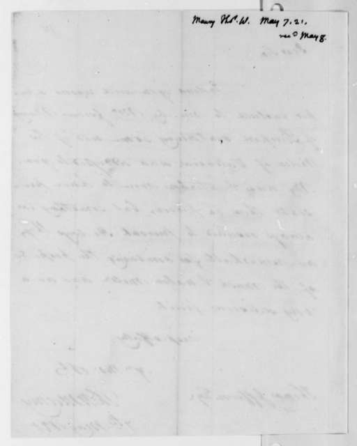 Thomas Walker Maury to Thomas Jefferson, May 7, 1821