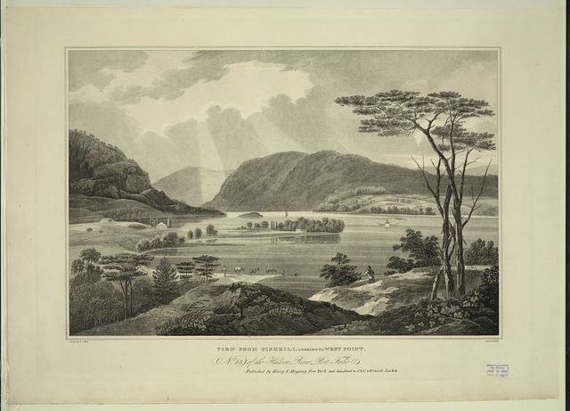 View from Fishkill looking to West Point / painted by W.G. Wall ; engraved by I. Hill.