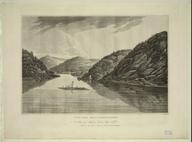 View near Fort Montgomery / painted by G.W. [i.e., W.G.] Wall ; engraved by J. Hill.
