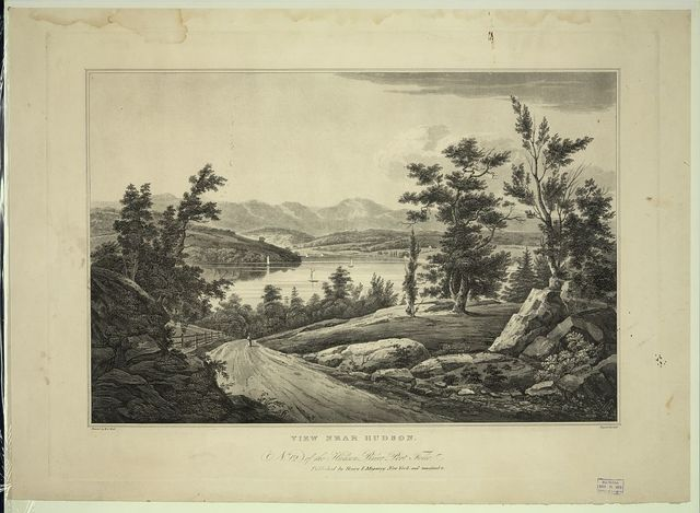 View near Hudson / painted by W.G. Wall ; engraved by J. Hill.