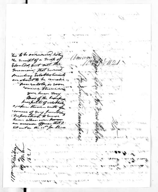 William Darby to Andrew Jackson, March 19, 1821