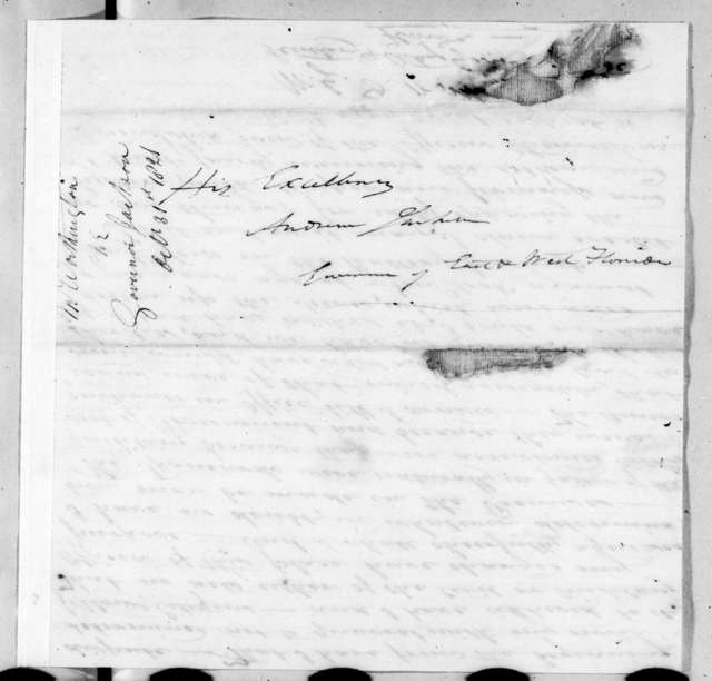 William Grafton Dulany Worthington to Andrew Jackson, October 31, 1821