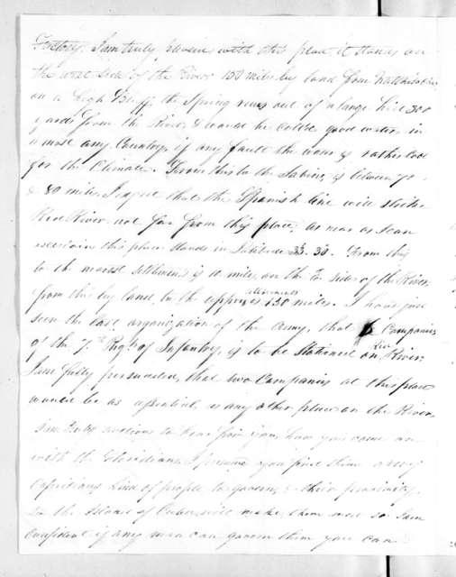 William McClellan to Andrew Jackson, June 27, 1821