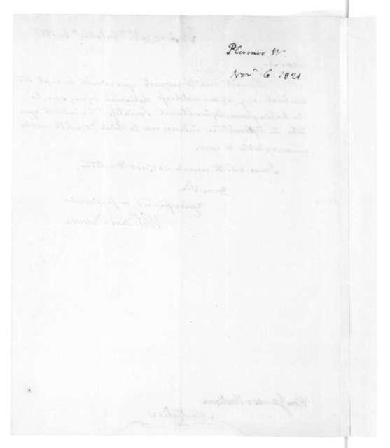 William Plumer to James Madison, November 6, 1821.