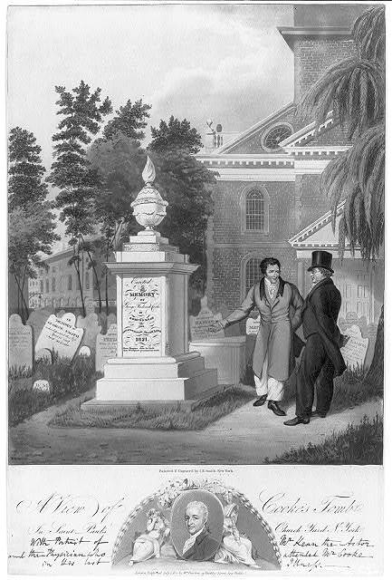 A view of Cooke's tomb in St. Paul's Church yard, N. York / painted and engraved by I.R. Smith, New York.