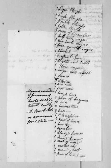 Alexander Barksdale to Andrew Jackson, December 1, 1822