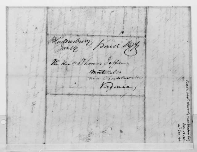 Alexander Keech to Thomas Jefferson, January 12, 1822
