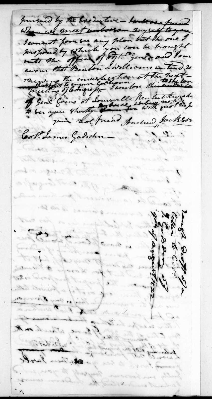 Andrew Jackson to James Gadsden, August 9, 1822
