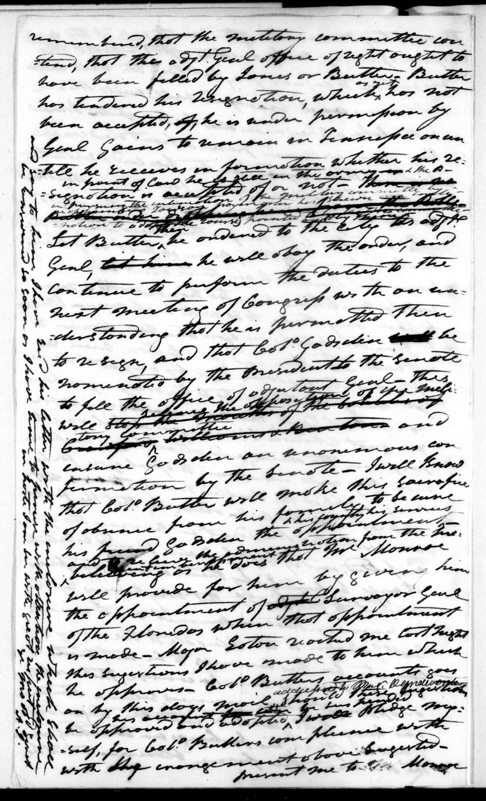 Andrew Jackson to John Caldwell Calhoun, June 28, 1822