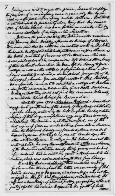 Benjamin Waterhouse to Thomas Jefferson, September 14, 1822