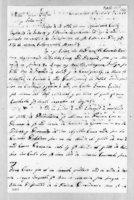 Catalina Mir Satorios to Andrew Jackson, April 16, 1822