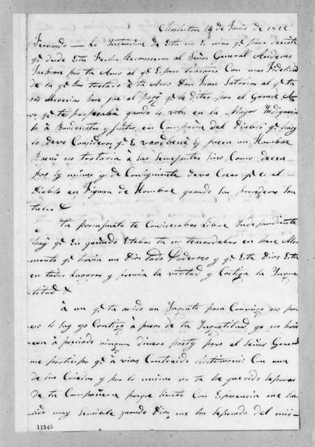 Catalina Mir Satorios to Andrew Jackson, June 14, 1822