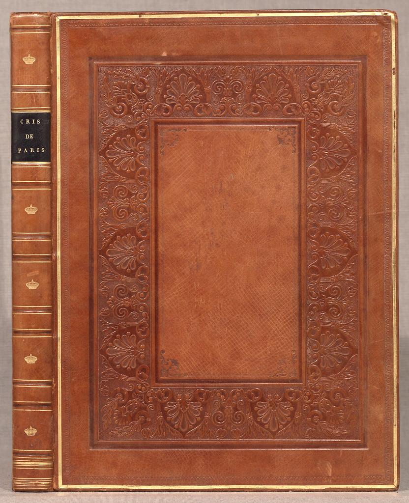 Cris de Paris,  Paris, Delpech [ca. 1822]  [1] l., 100 col. plates. 36 cm.
