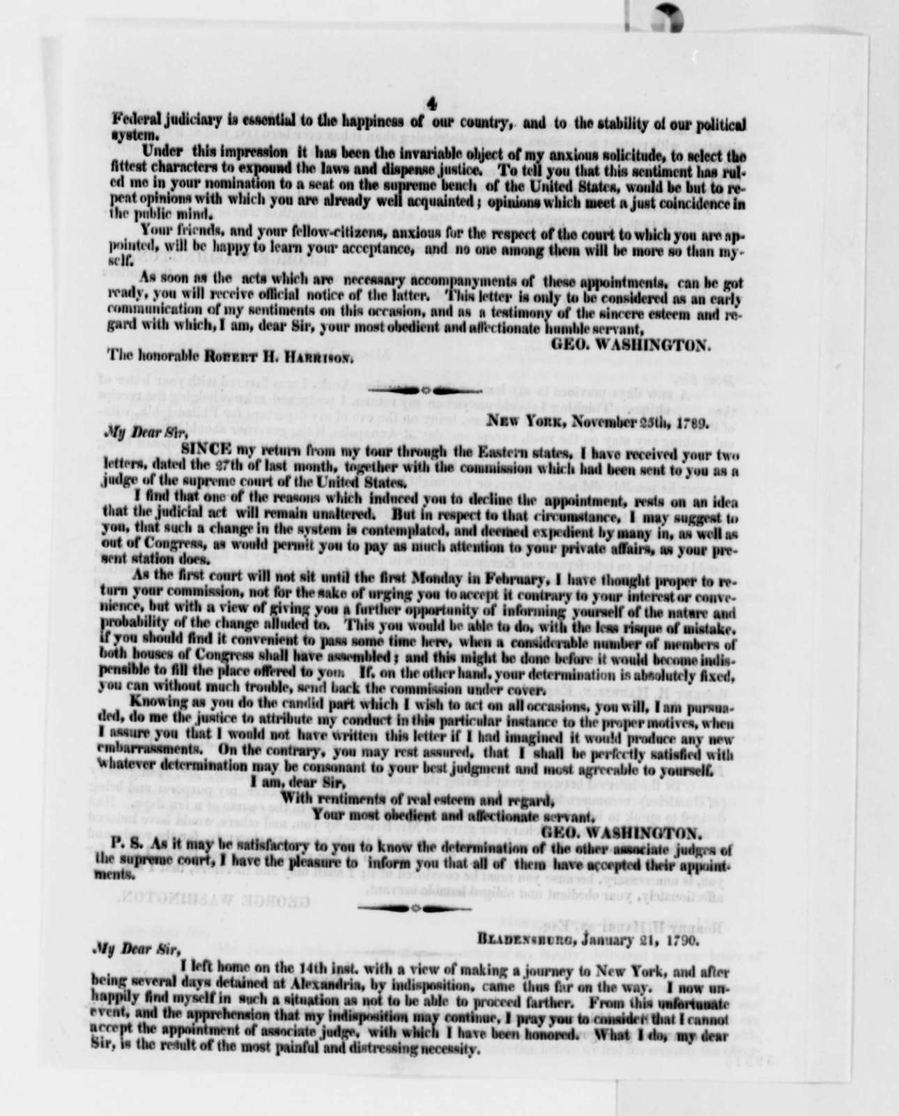 David Easton to Thomas Jefferson, January 9, 1822, with Circular of Washington Letters