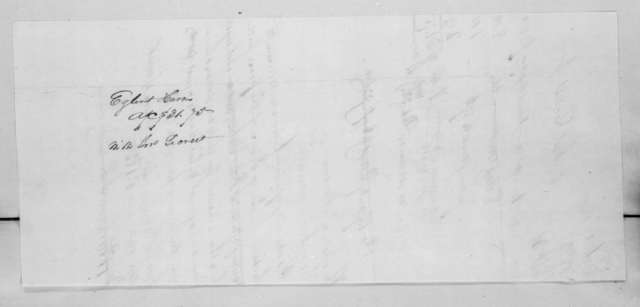 Egbert Harris to John Secrest, December 2, 1822