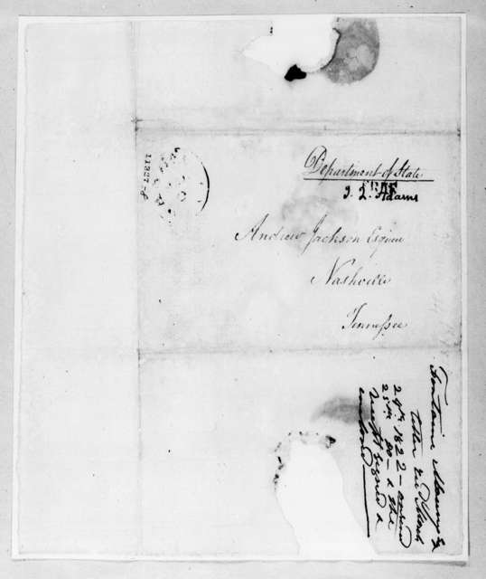 Fontaine Maury to Andrew Jackson, March 24, 1822
