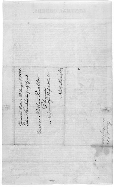 General orders. [regarding uniform dress]. Norwich, July 30, 1822. Eben. Huntington, Adj. Gen.