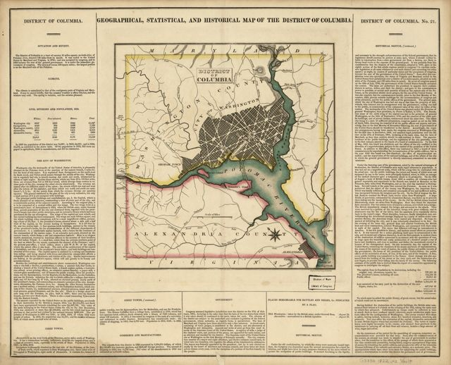 Geographical, statistical, and historical map of the District of Columbia /