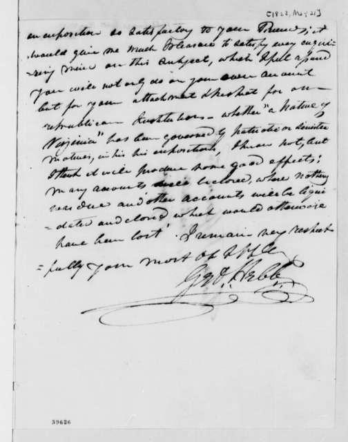 George Hebb to Thomas Jefferson, May 21, 1822
