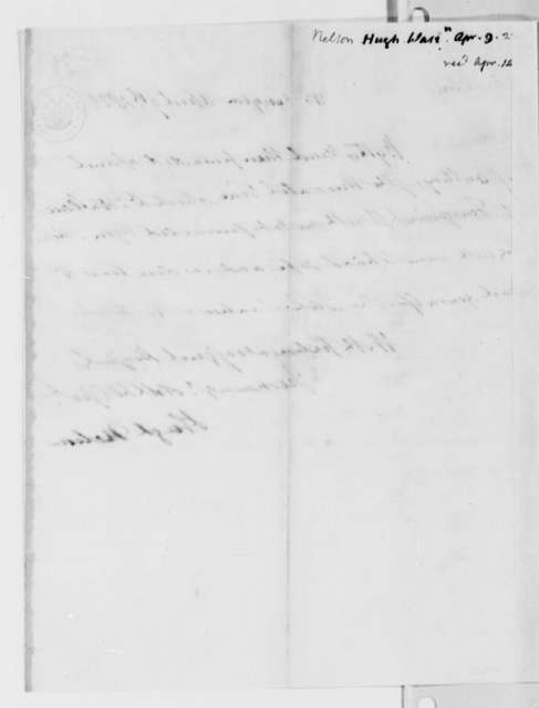 Hugh Nelson to Thomas Jefferson, April 9, 1822