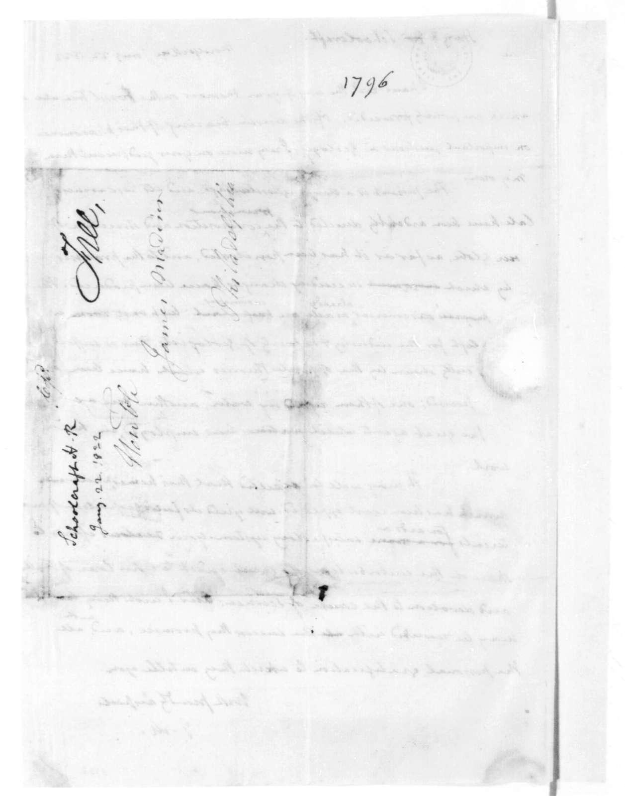James Madison to Henry R. Schoolcraft, January 22, 1822.