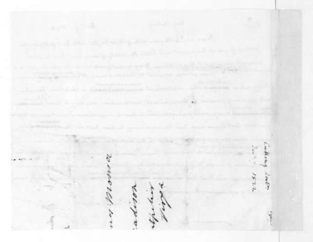 James Madison to John Browne Cutting, December 7, 1822.