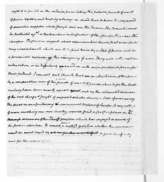 James Madison to Mathew Carey, February 21, 1822.