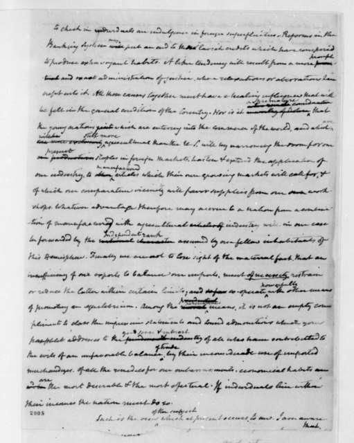 James Madison to Mathew Carey, October 25, 1822.