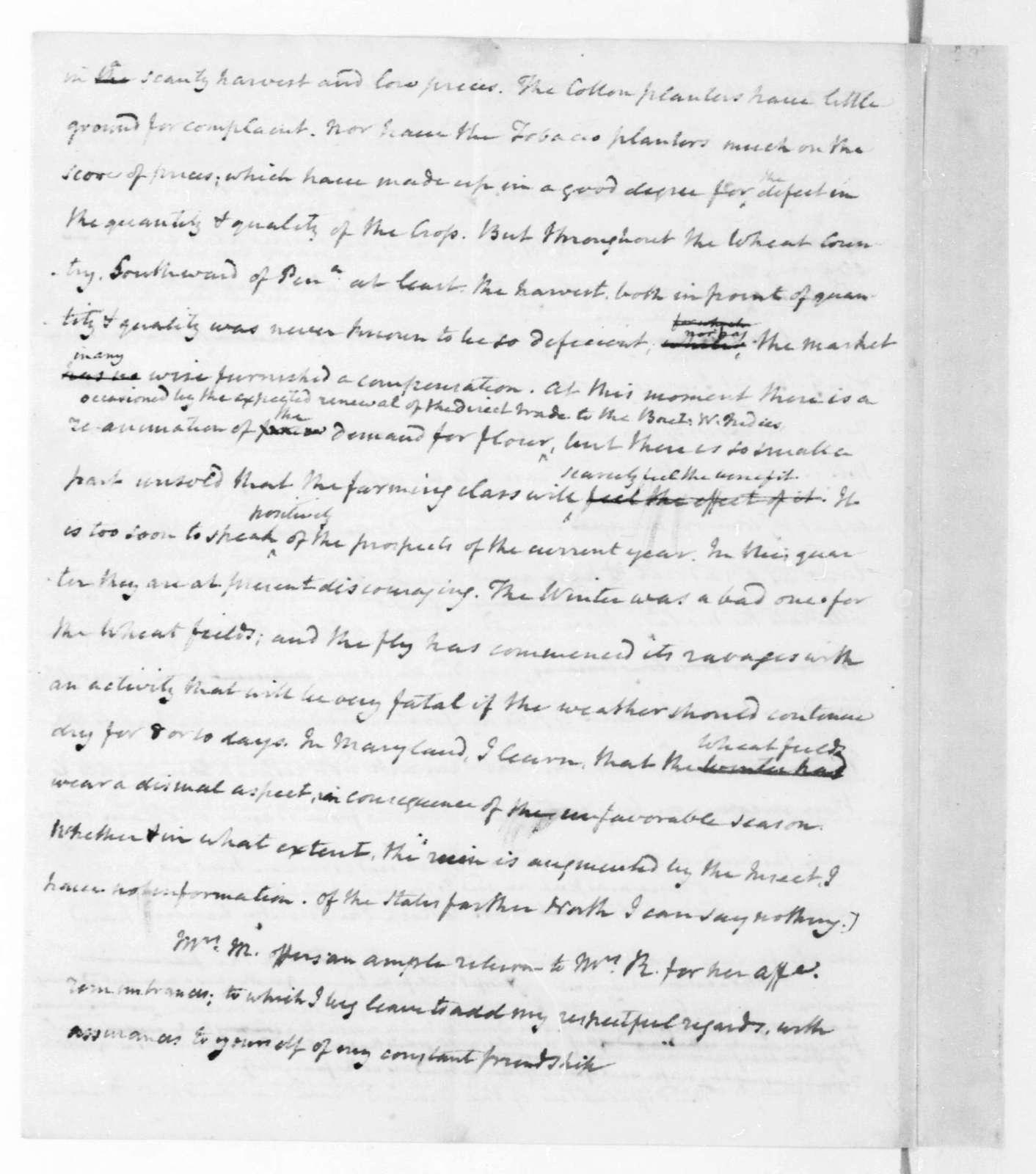James Madison to Richard Rush, May 1, 1822.
