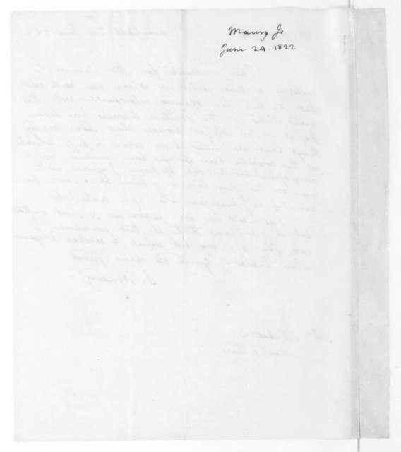 James Maury to James Madison, June 24, 1822.