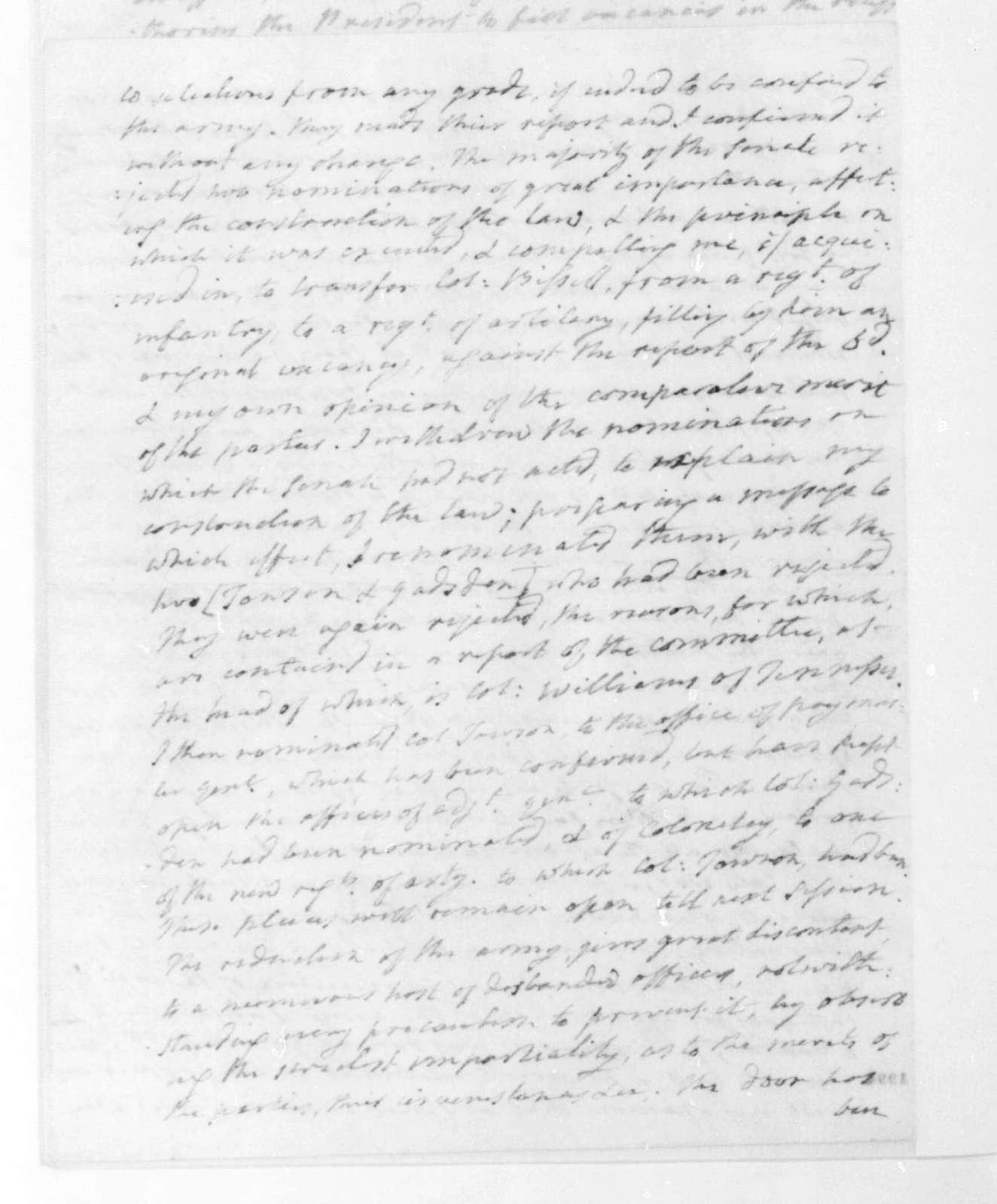 James Monroe to James Madison, May 12, 1822.