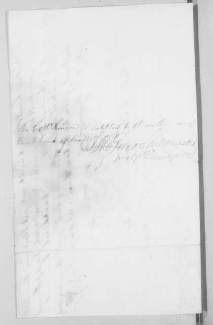 John Christmas McLemore, October 18, 1822