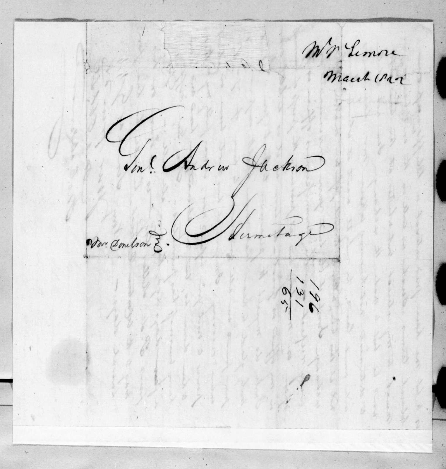 John Christmas McLemore to Andrew Jackson, March 29, 1822
